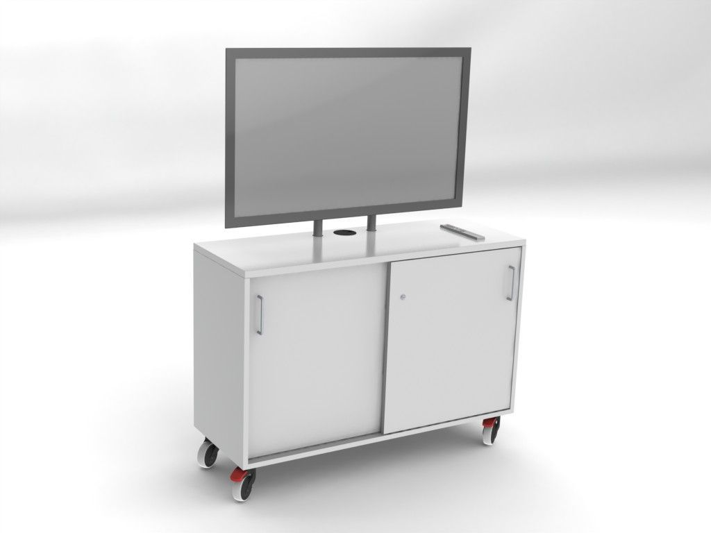 Mobile Tv Cart Or Portable Cabinet For Flat Screens